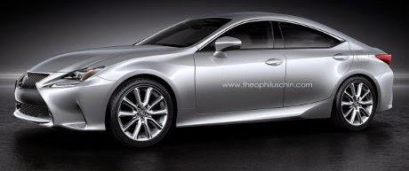 Lexus RC Coupe 4 Pintu Mulai Tampak