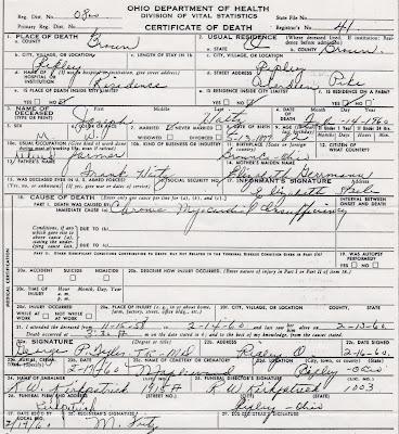 Joseph Haitz - death certificate