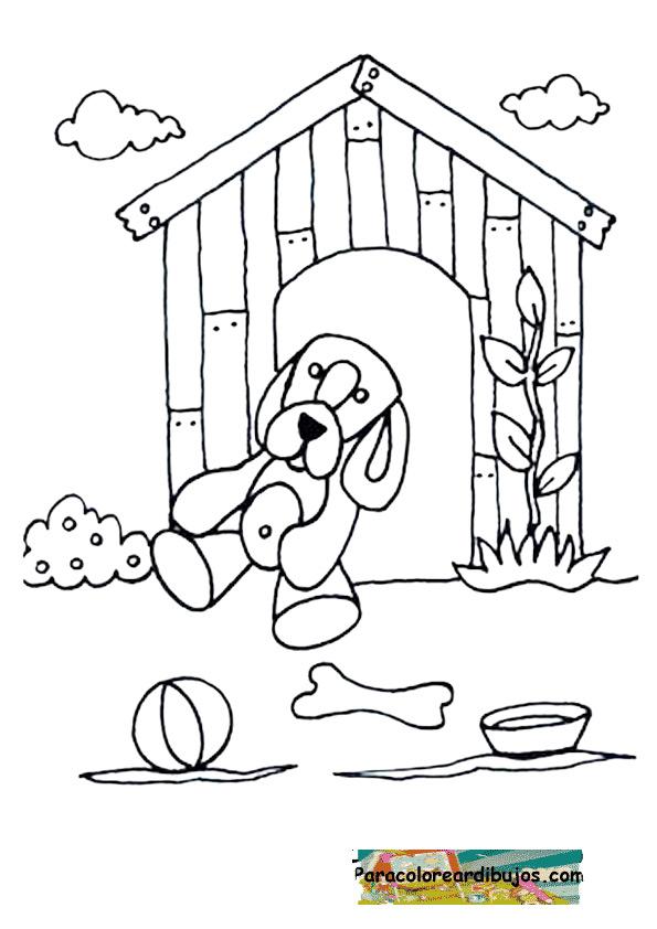 dibujo de perrito para colorear