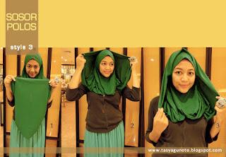 Cara Memakai Jilbab Sosor