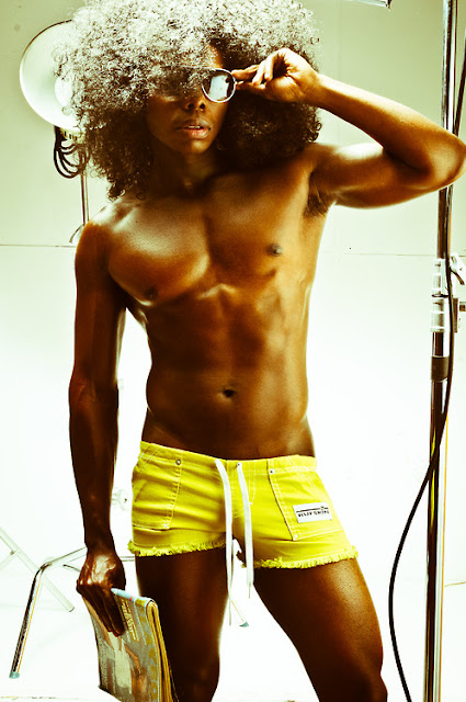 laurence hines in rufskin shorts