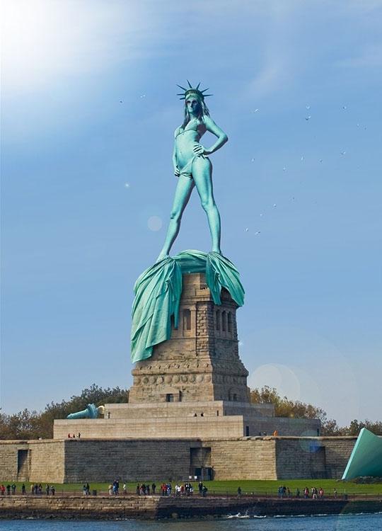 liberdade sim estátua não