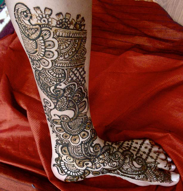 Mehndi Designs For Legs  Beautiful Collections