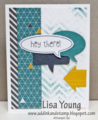 Stampin' Up! Word Bubbles framelits and Just Sayin' stamp set.
