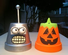 Macetas Recicladas para Halloween, Decoracion