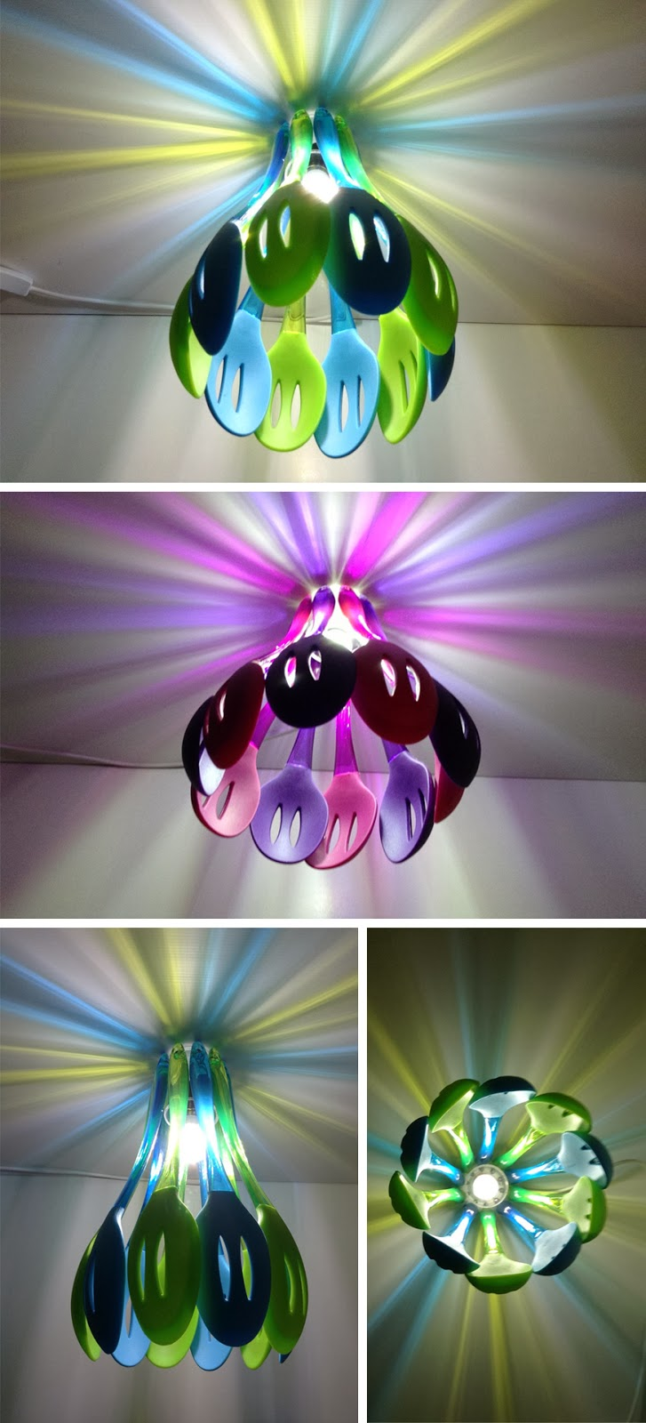 Lamp with colorful spatulas