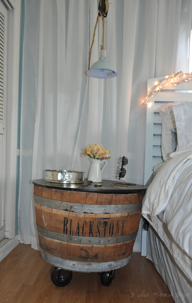 3 Sun Kissed Boys Wine Barrel Nightstand