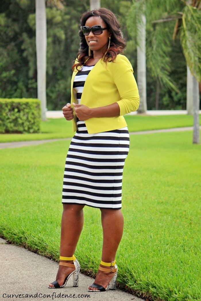 Black And White Striped Blazer Outfit Black And White Striped Skirt