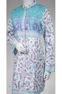 Batik Kasato 602 - Tosca Muda Kombinasi (Toko Jilbab dan Busana Muslimah Terbaru)
