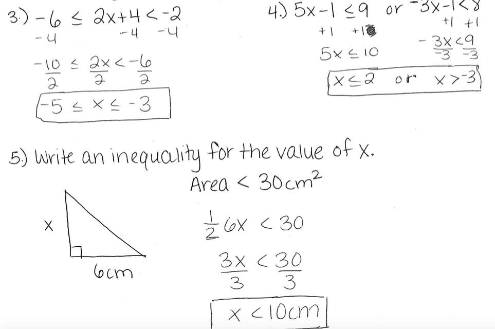Algebra i review sheet