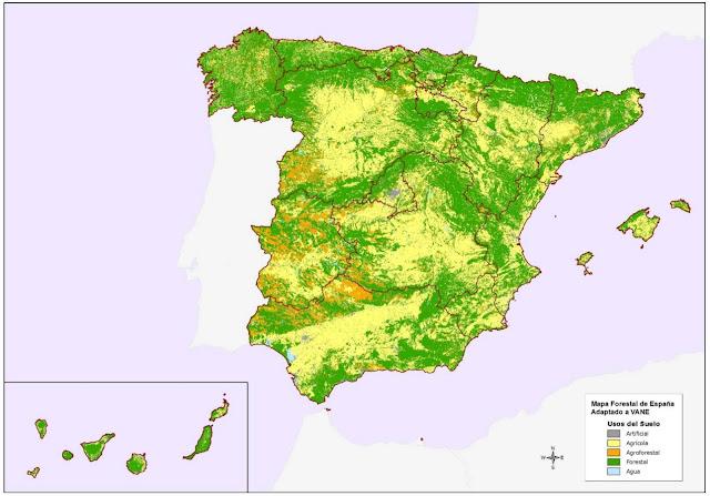 Mapa Forestal de España