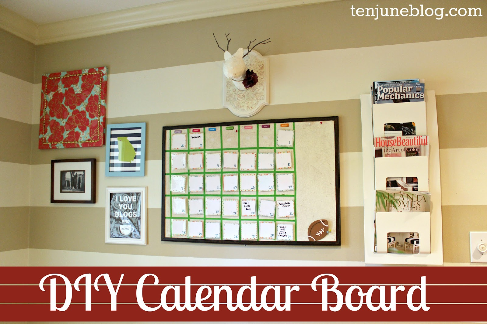 Diy Calendar Board : Ten june diy erasable calendar board