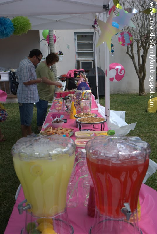 Food Family Fun Barbie Birthday Party
