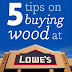 My 5 best tips for buying wood at Lowe's