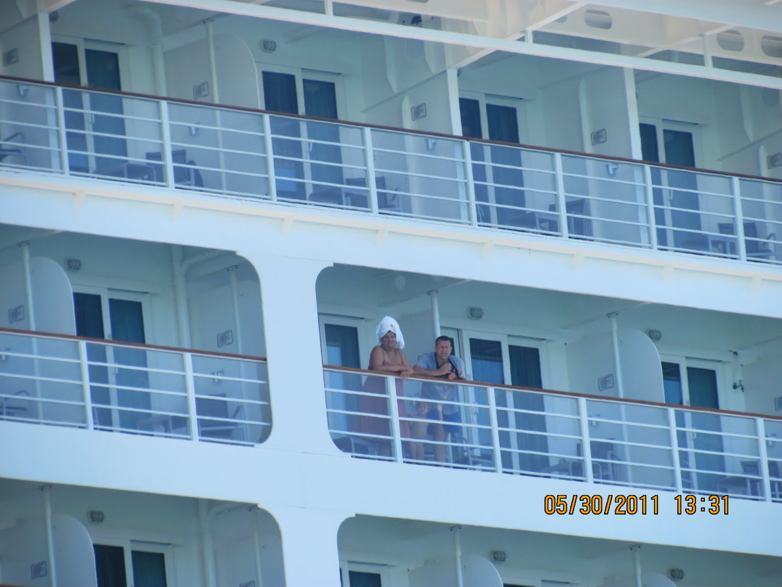 nude balcony Cruise ship