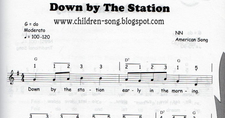 Down By The Station Song with Notes and Chords