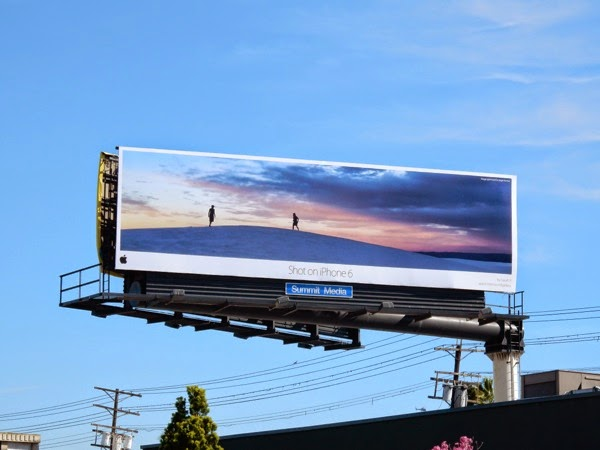 Shot on iPhone 6 desert billboard