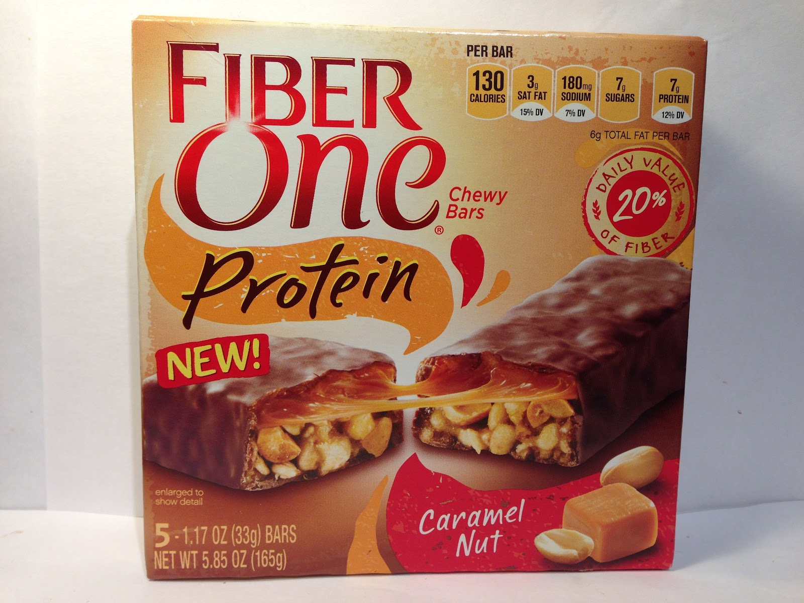 Crazy Food Dude: Review: Fiber One Protein Caramel Nut Chewy Bar