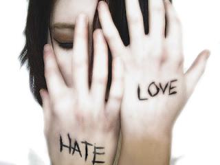 Teu ódio não permite enxergar  o grande amor que sinto por você.  (Andréia Goes - fb.com/anddynha)
