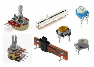 Bentuk fisik Resistor Variabel