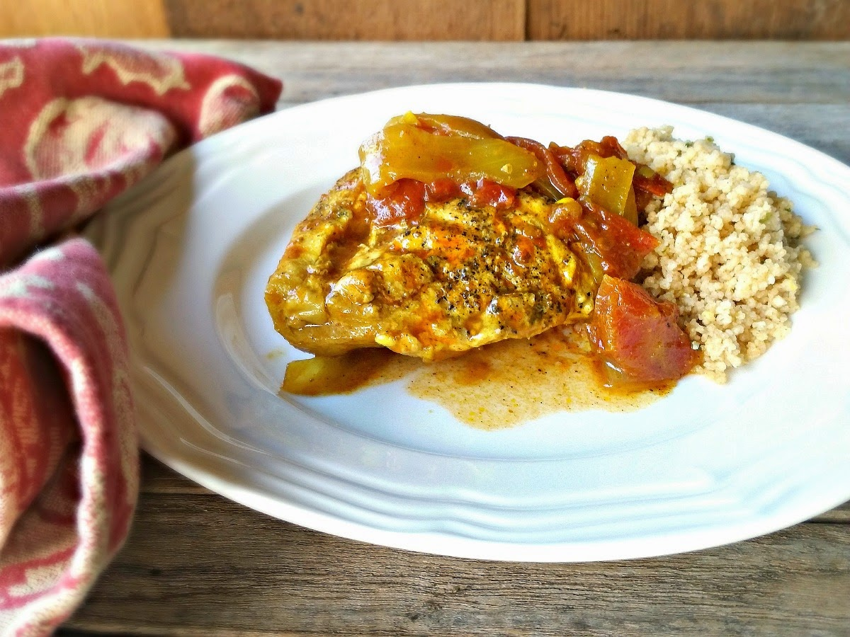 Moroccan Chicken and Lemon Herb Couscous