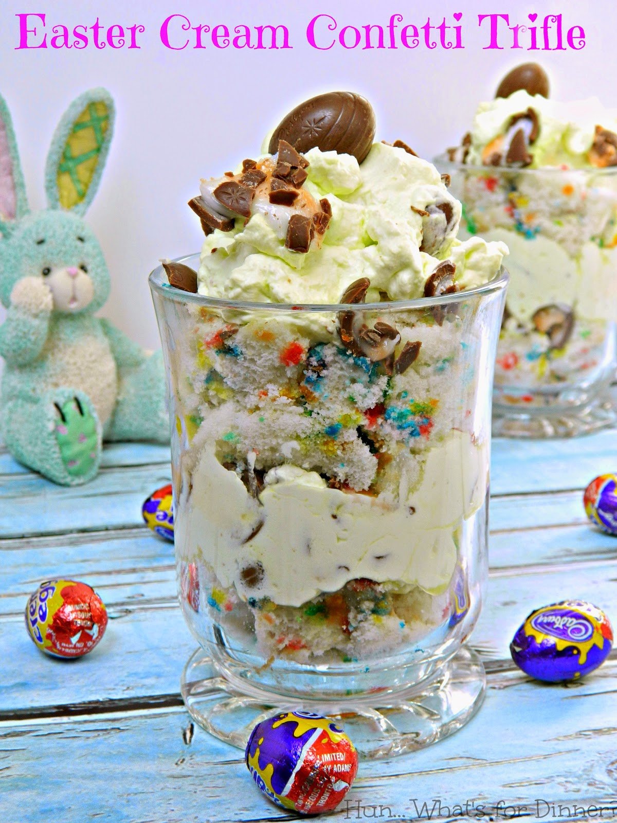 Easter Cream Confetti Trifle