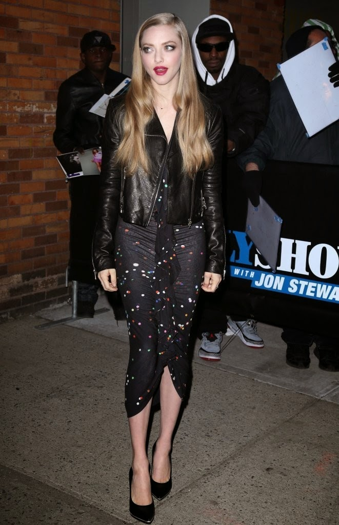 Actress, Singer, Model @ Amanda Seyfried at 'The Daily Show with Jon Stewart' in NYC