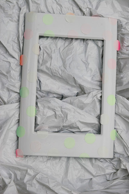 DIY silver dot picture frame