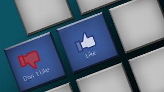 pulsante mi piace e non mi piace facebook