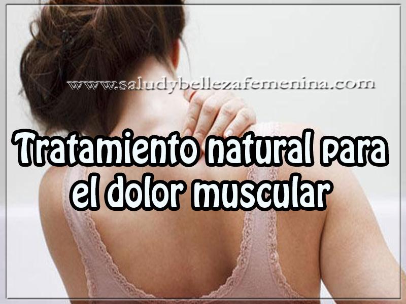 Salud y bienestar, tratamiento natural para el dolor muscular,