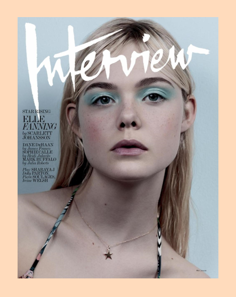 Elle Fanning by Craig McDean for Interview Magazine