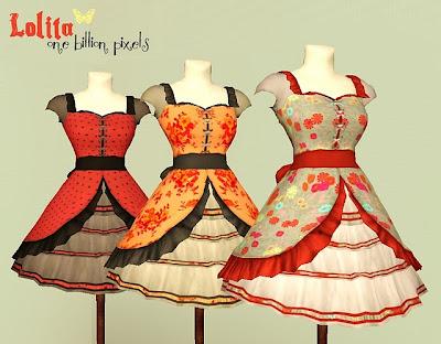 Pocci's Lolita Dress Mannequins Retextures by NewOne OBP+Lolita+Dress+Mannequins+Spring+Summer++Style
