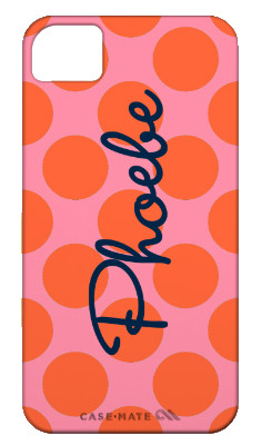Polka Dot Phone Case with Customized Cursive Name