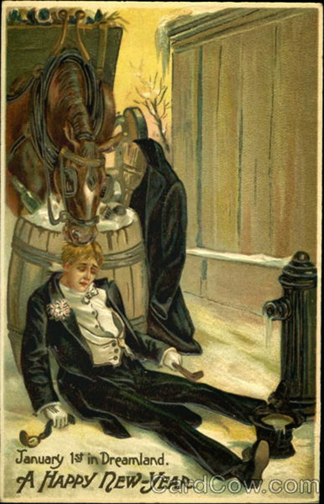 30 Strange And Creepy Vintage New Years Postcards From