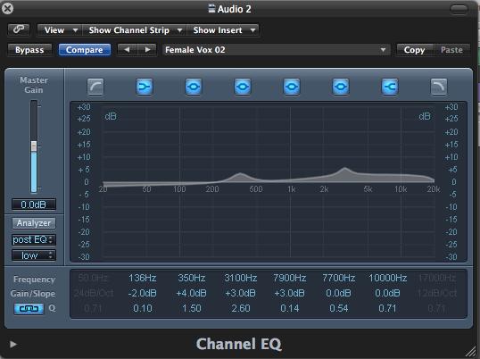 Cómo ecualizar correctamente la voz usando plugins. Ilustración 1