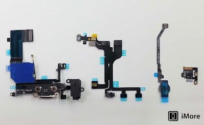 Todas las piezas del sensor de huellas dactilares