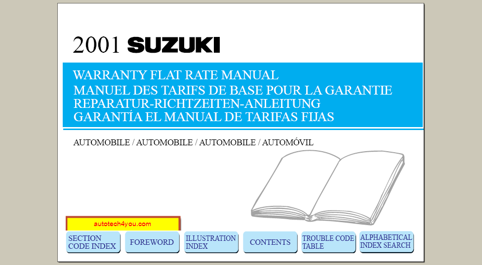 Suzuki Flat Rate Manual 2001