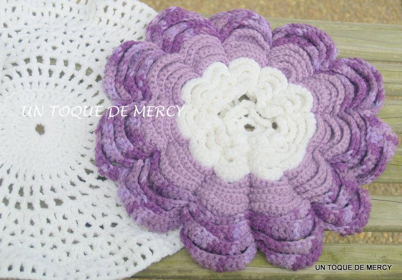 Set De Baño Tejido En Crochet Paso A Paso:UN TOQUE DE MERCY: SET PARA BANO DE CROCHET