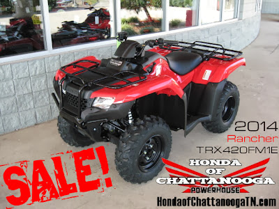 2014 Rancher 420 ATV 4x4 TRX420FM1E SALE Honda Chattanooga ATV TN PowerSports Dealer TRX420FM