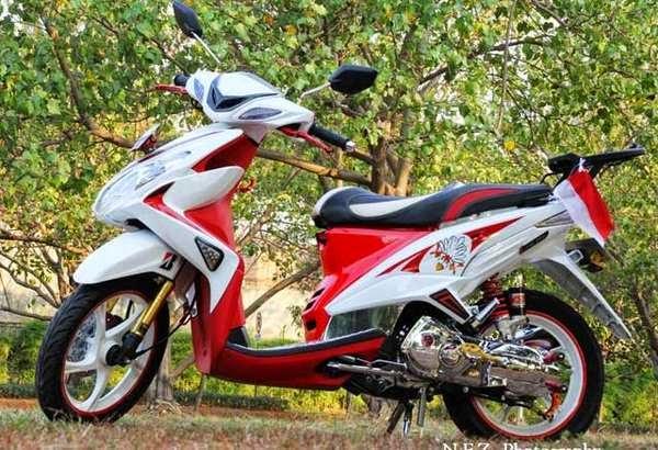 Modifikasi Motor Yamah Xeon Merah Putih