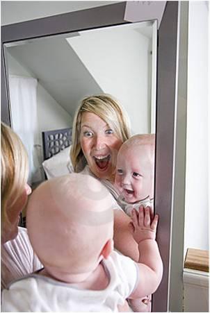 Actividades de estimulaci n para bebes for Espejo para ver al bebe en el auto