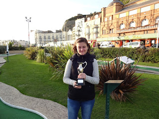 Photo of The Gommery Champion Emily Gottfried at the World Crazy Golf Championships in Hastings