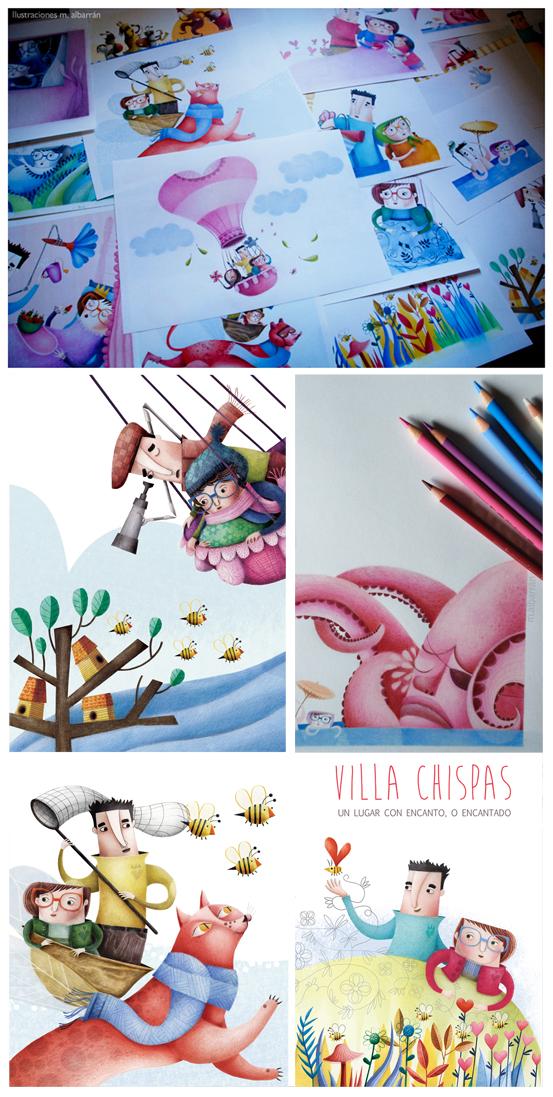 The Charming Village Illustration Maria Albarran