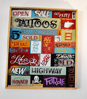 Hand Painted Traditional Signwriters Australia Puzzle Box Retro and Vintage Signage Dobell signs Sydney New South Wales Australia