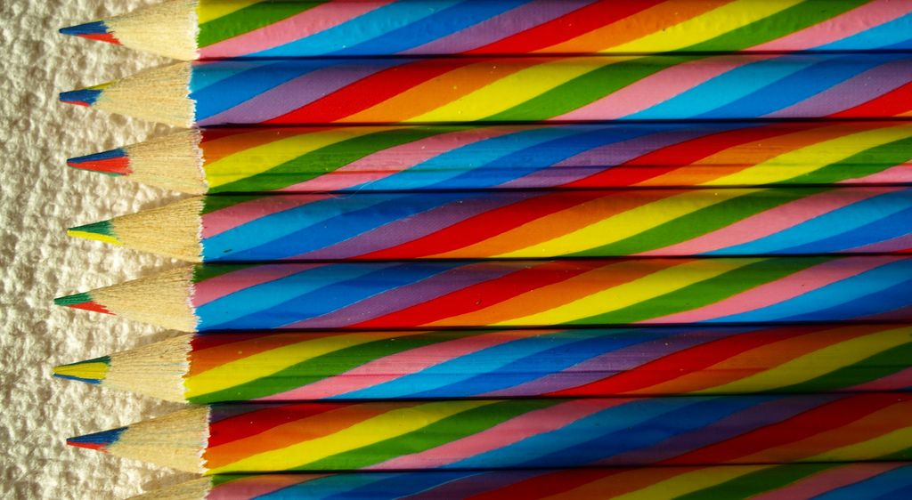 16. Rainbow Pencil