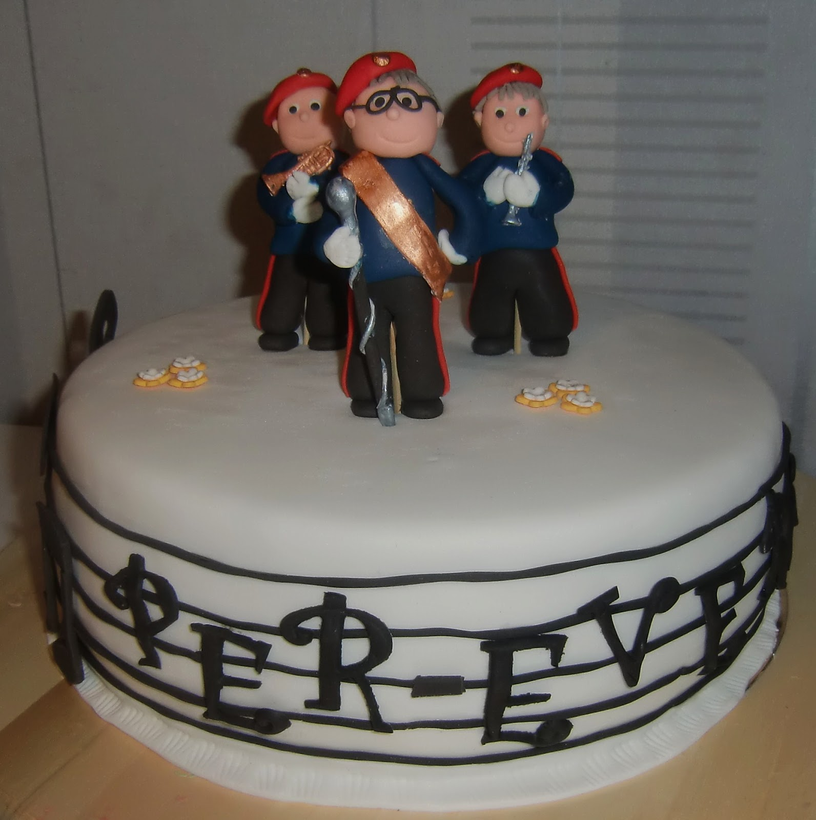 en kaka till Musiktårta