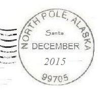 Free North Pole Postmark for your craft items