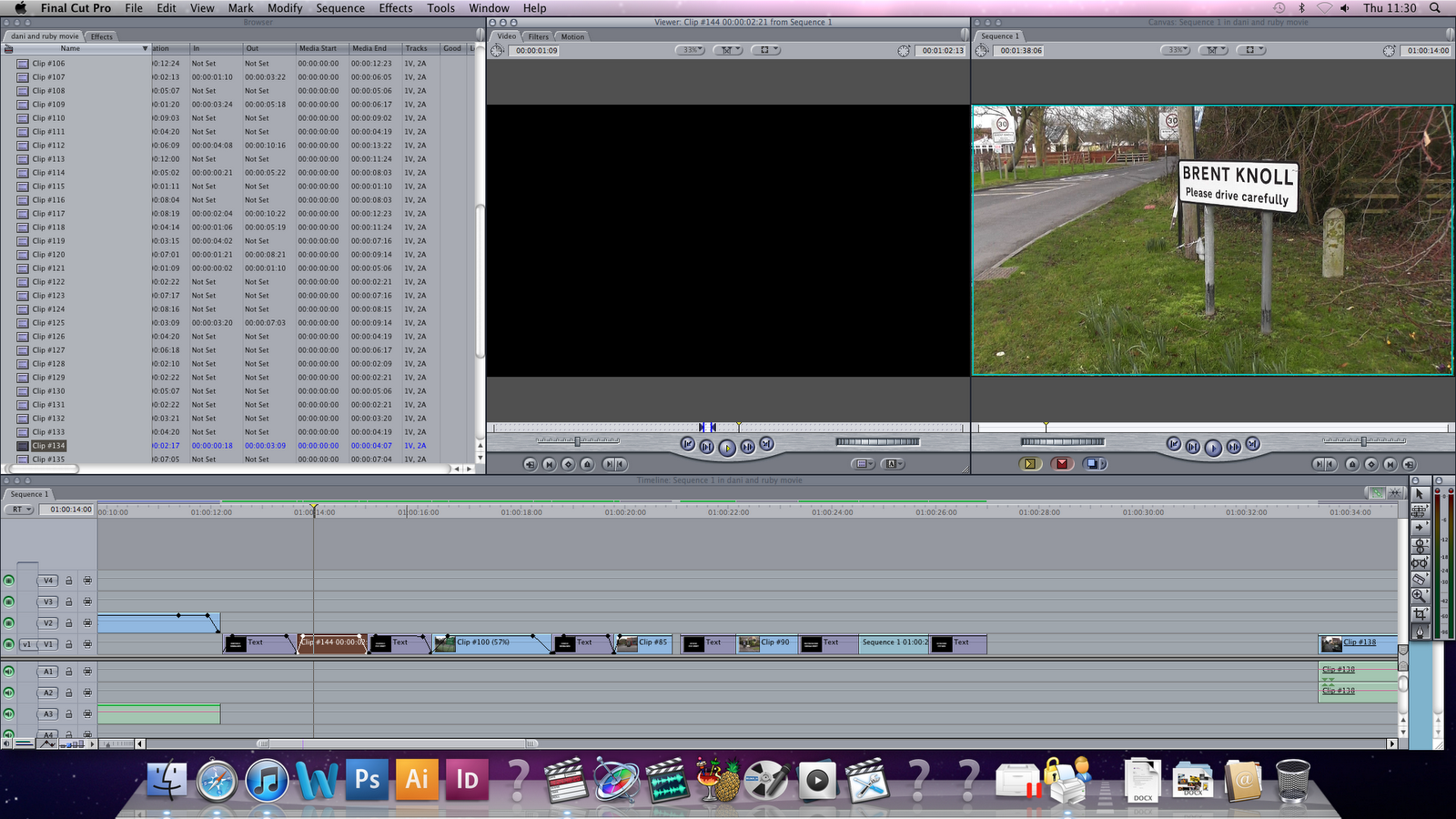 final cut pro how to put footage ob timeline