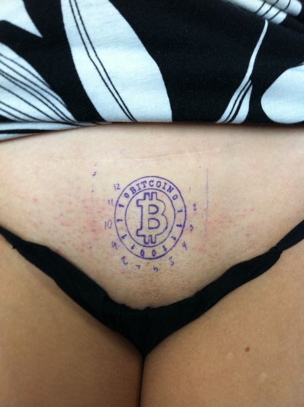World's First Bitcoin Tattoo in Las Vegas?