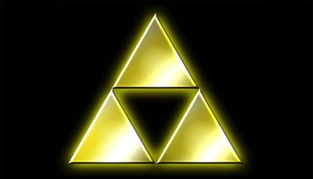 """Representación del triángulo del poder en la saga de fantasía épica """"Legend of Zelda""""."""